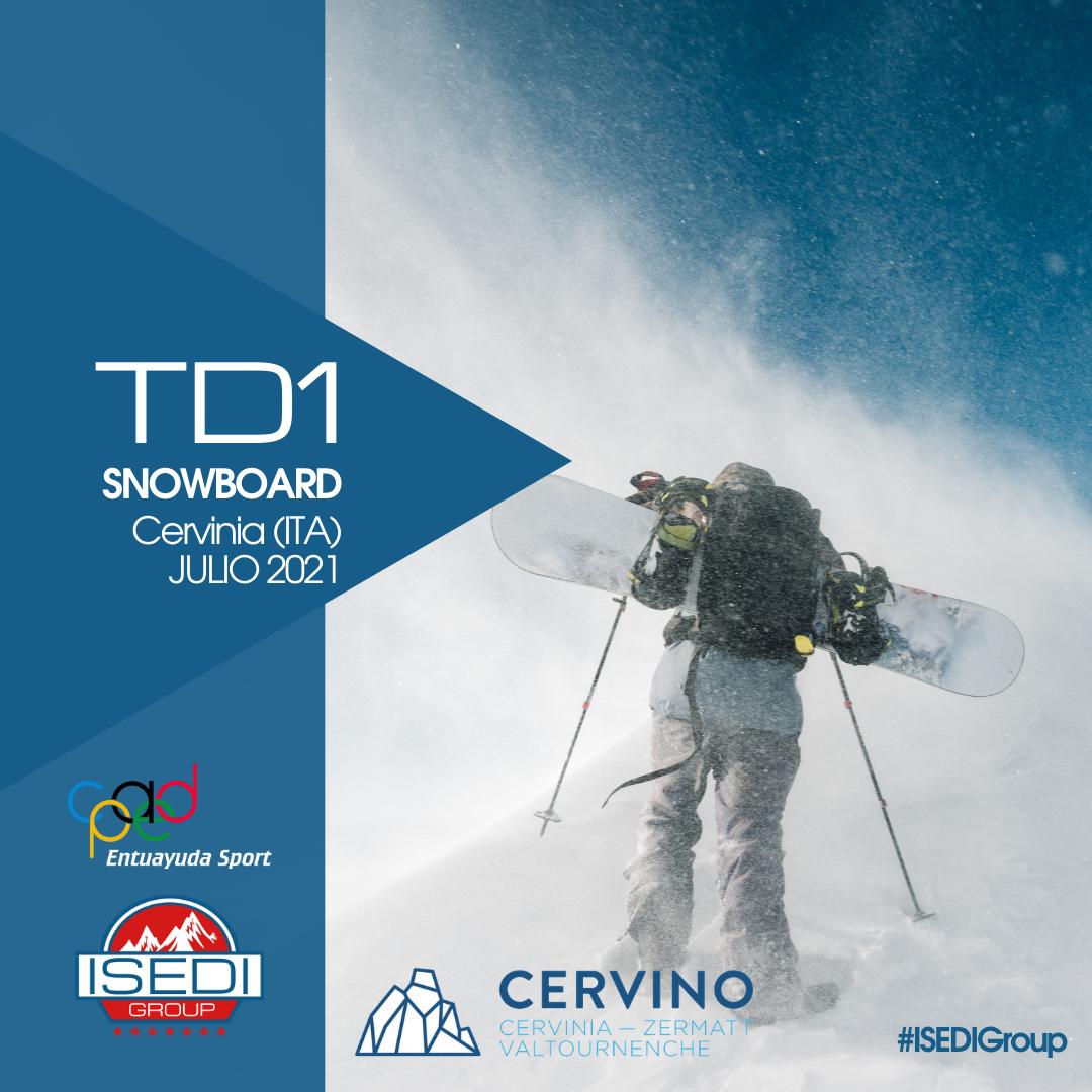 TD1 Snowboard Cervinia 2021